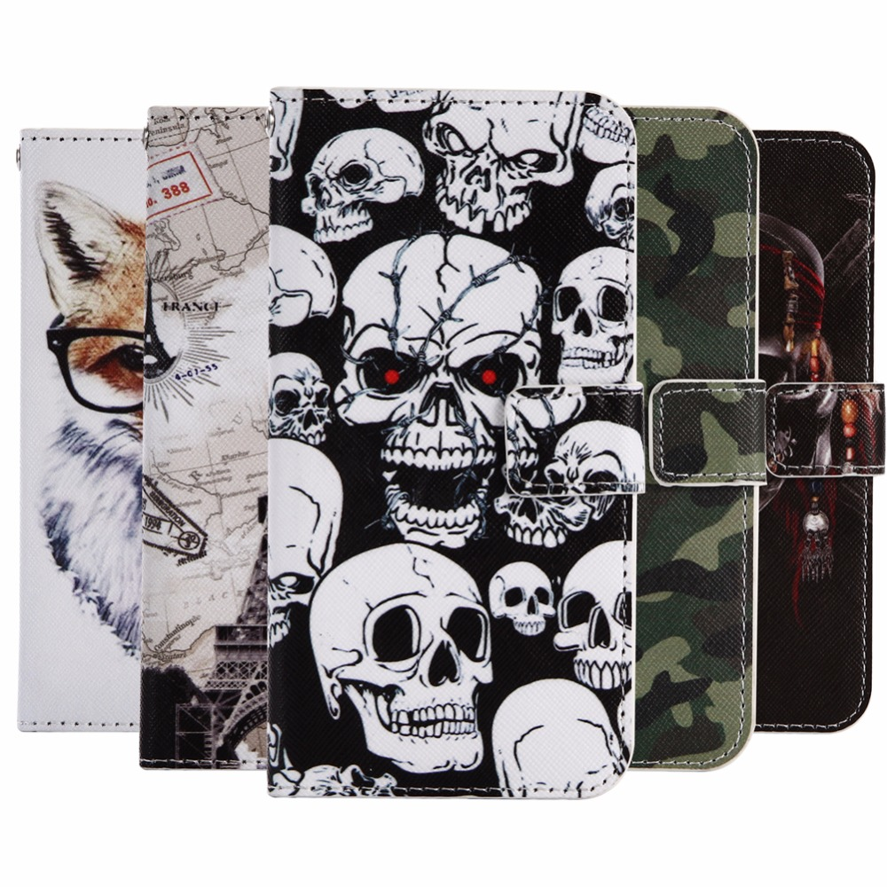 "GUCOON Cartoon Wallet Case for Doogee T5 T5 Lite 5.0"" Fashion PU Leather Lovely Cool Cover Cellphone Bag Shield"