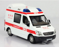 Alloy Diecast Ambulance&Post Office Van Car model 1:32 Open Door and With Sound Alloy Diecast light and Sound Model Vehicle Toy