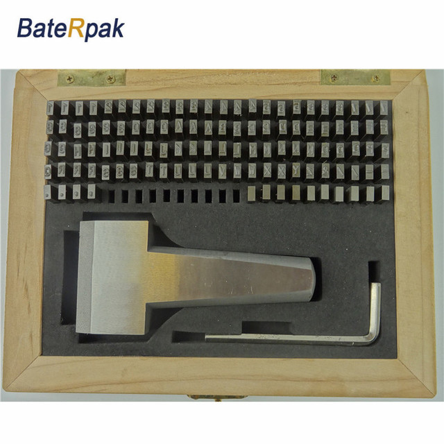 Felxible Stamping Letters Baterpak Motorbike Car Chassis Number Stamp Letters Steel Word Punch