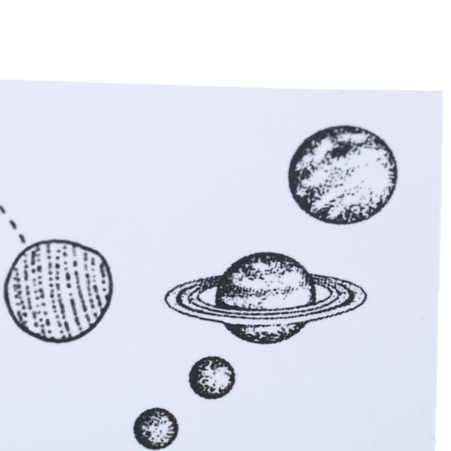 5Pcs Universe Temporary Tattoo Spaceman Watercolor Planets Galaxy Moon Star Water Transfer Tattoo Stickers Men Women