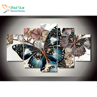 Zhui Star 5D DIY Full Square Diamond Painting Butterfly Cross Stitch Multi Picture Combination 3D Mosaic