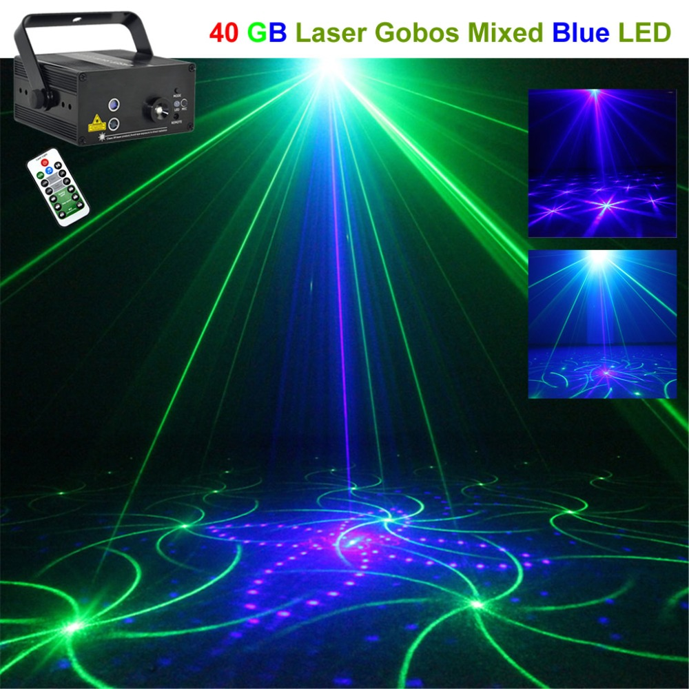 Mini 40 Green Blue GB Patterns Laser Lights Projector 3W Blue LED Mixing Effect DJ KTV Party Wedding Remote Stage Lighting 40GBMini 40 Green Blue GB Patterns Laser Lights Projector 3W Blue LED Mixing Effect DJ KTV Party Wedding Remote Stage Lighting 40GB