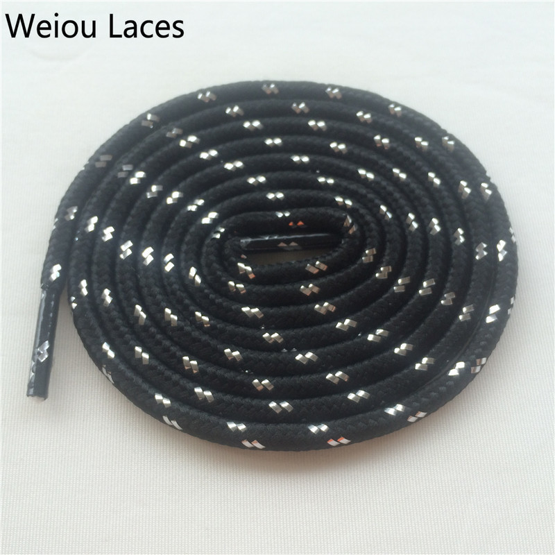 Weiou Sports White Black Silver Yarn Shoelaces Round Rope Laces String For Outdoor Climbing Casual Shoes Bootlace FREE SHIPPING pz0 5 16 0 5 16mm2 crimping tool bootlace ferrule crimper and 1k 12 awg en4012 bare bootlace wire ferrules