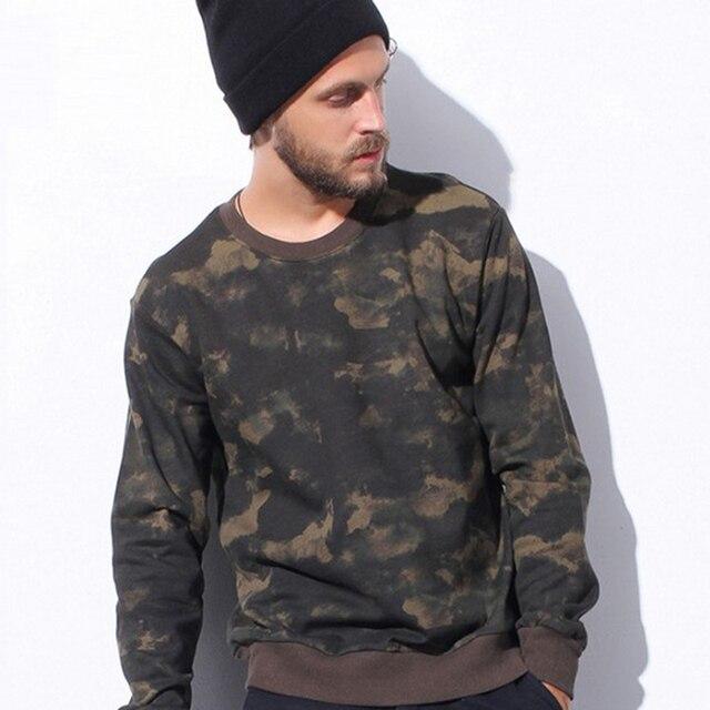 e64953acda6aa Estilo militar Hip Hop sudadera con capucha camuflaje moda hombres sudadera  con capucha casual de camuflaje