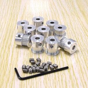 10 шт./лот Alumium GT2 шкив 17 зубцов диаметр 5 мм для ширины 6 мм ремень и 3D принтер CNC шаговый двигатель Бесплатная доставка