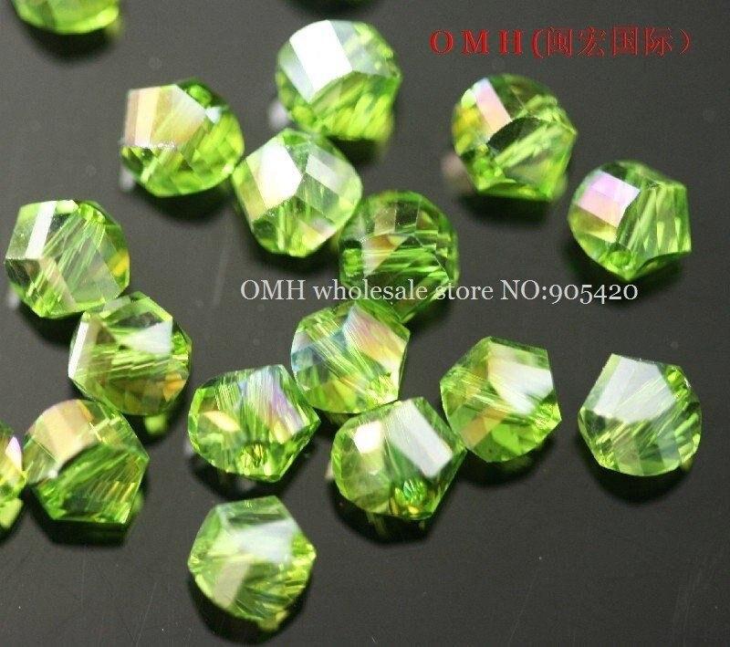 40 despierta de vidrio perlas en turquesa 8 mm