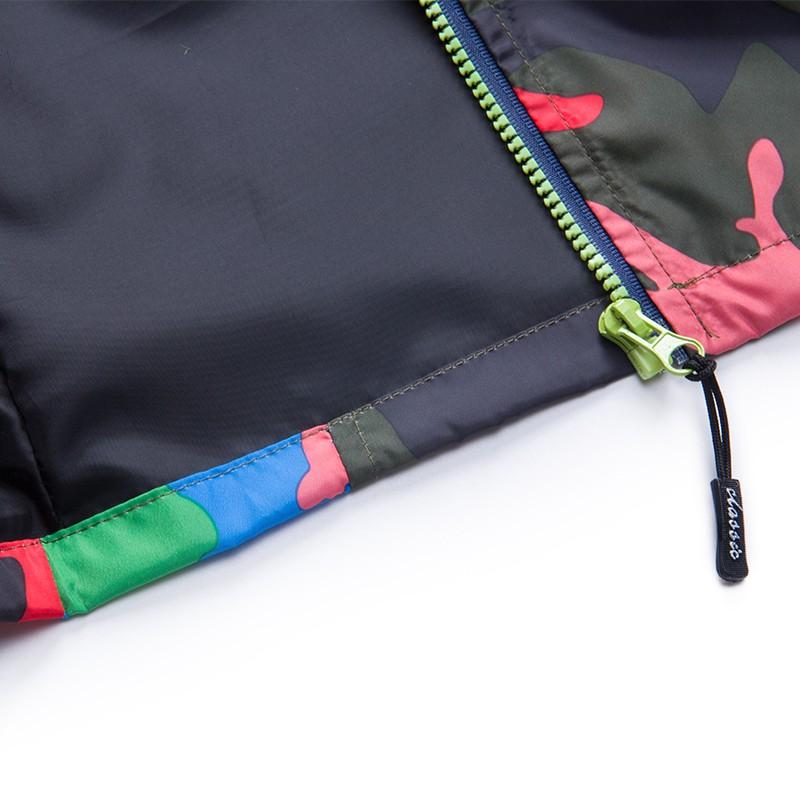 80-140cm Camouflage Spring Outerwear Children Hooded Jacket For Boys Kids Girls Trench Coat Hooded Windbreaker Sport Suit (6)