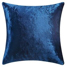 Home Decorative Cushion Covers for Sofa 45x45 Blue Throw Pillow Covers Velvet for Couches Floor 50x50(China)