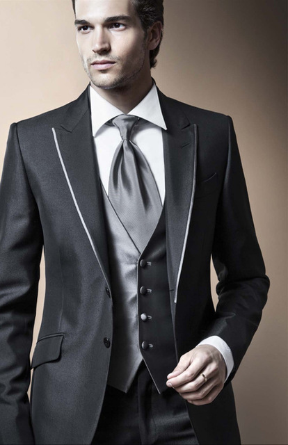 Black Thin Body Men S Wedding Suits The Groom And His Attendants Crime Suit