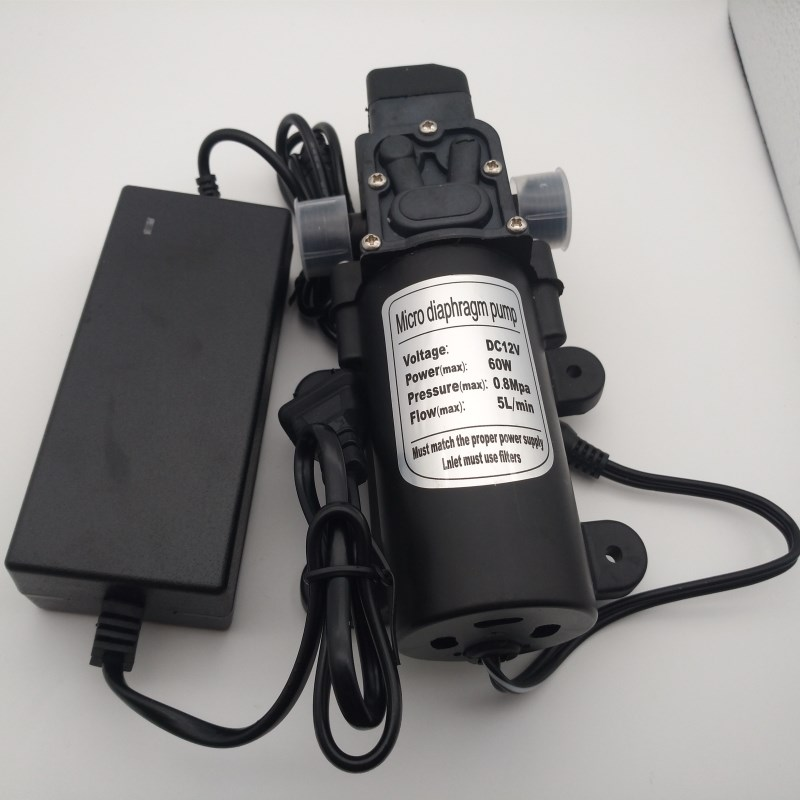 S107  12V 6A 60W Self Priming Fine Mist Spray,Micro Diaphragm Pump with AC to DC Adapter Power SupplyS107  12V 6A 60W Self Priming Fine Mist Spray,Micro Diaphragm Pump with AC to DC Adapter Power Supply
