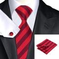 C-1475 Hi-Tie New Design Striped Mens Ties Neckties Fashion Red Silk Ties For Men Wedding Business Suits 8.5cm Corbatas Gravatas