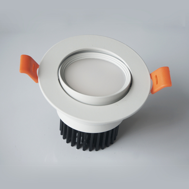 6w 9w 12w Dimmable Led downlight make known be revealed COB Ceiling Spot Light 85-265V ceiling recessed Ridicules Indoor Lighting white turn body.
