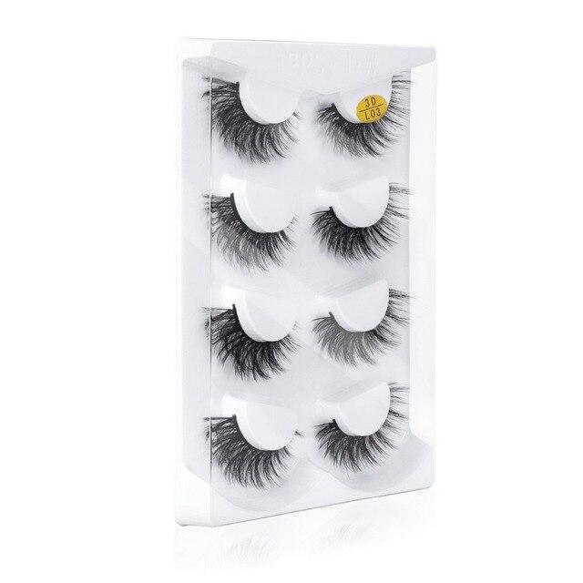 66fc08ba166 SEXYSHEEP 2/4 pairs natural false eyelashes fake lashes long makeup ...