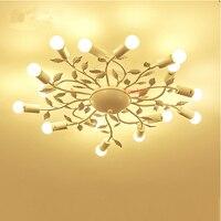 потолочное освещение ретро Спальня потолочные светильники Современная гостиная светодиодный потолочный светильник Nordic индивидуальный но
