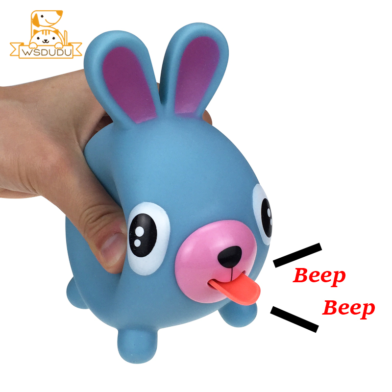 Tongue Voice Animal Squeeze Decompression Novelty Vent Vocal Toys Cute Dog Bear Rabbit Pig Tiger Puppy Squishy Anti-Stress Dolls