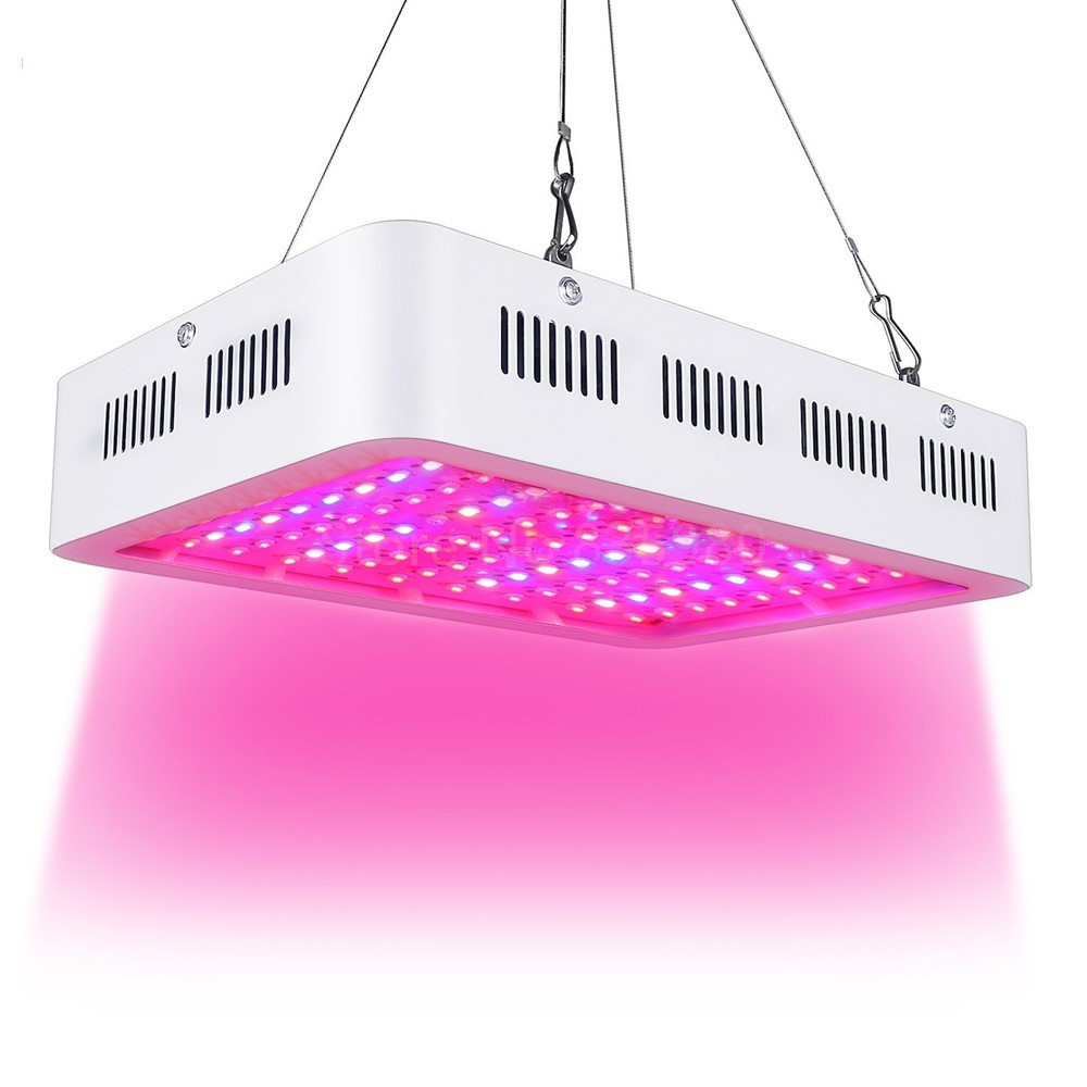 Best LED Grow Light 1000W Double Chip Full Spectrum for Indoor Aquario Hydroponic Plant Flower LED Grow Light High Yield lucide бра lucide campagne 31233 02 21