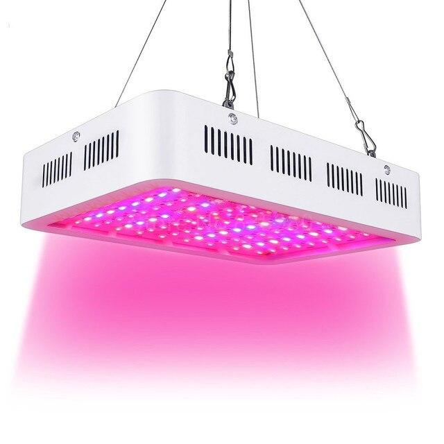 Oświetlenie LED do uprawy 1000W podwójny Chip pełne spektrum lampa do uprawy W pomieszczeniach Aquario hydroponicznych namiot do hodowania roślin wysokiej jakości