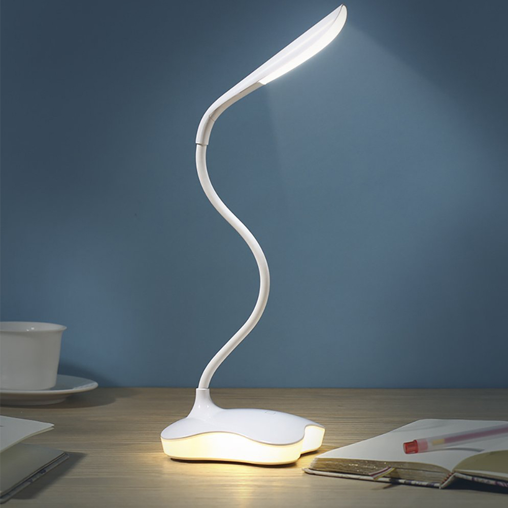 3 Level Dimmable Clover LED Sensor Table Luminaria For Study Eye-Protection Flexible Night Lighting Table Lamp With USB Cable white rotating rechargeable led talbe lamp usb micro charging eye protection night light dimmerable bedsides luminaria de mesa