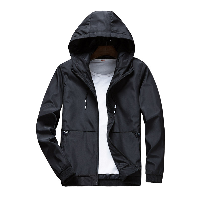 Paragraph Lang Legendary new fashion hooded jackets, spring/Autumn casual standard conventional Pilot Jackets