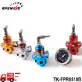 Pivot -1-160 PSI Adjustable Fuel Pressure Regulator Kit FPR W/Black Gauge JDM Car Auto Universal Racing TK-FPR0518B-FS