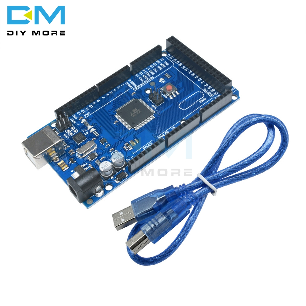 Mega 2560 R3 10sets//lot Mega2560 REV3 ATmega2560-16AU Board USB Cable Compatible