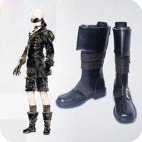 Customize NieR Automata YoRHa No. 9 Type S 9S Cosplay Boot Long Black Shoes Male Female Size 35 47 European Size Boot Women Men