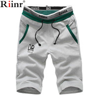 Riinr 2017 Shorts Men Summer Fashion Mens Shorts Casual Cotton Slim Bermuda Masculina Beach Shorts Joggers