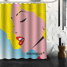 Nice Marilyn Monroe Shower Curtain Funny Curtain For Bathroom Waterproof Polyester Fabric Eco-Friendly 2019 Bath Curtain Gift(China)