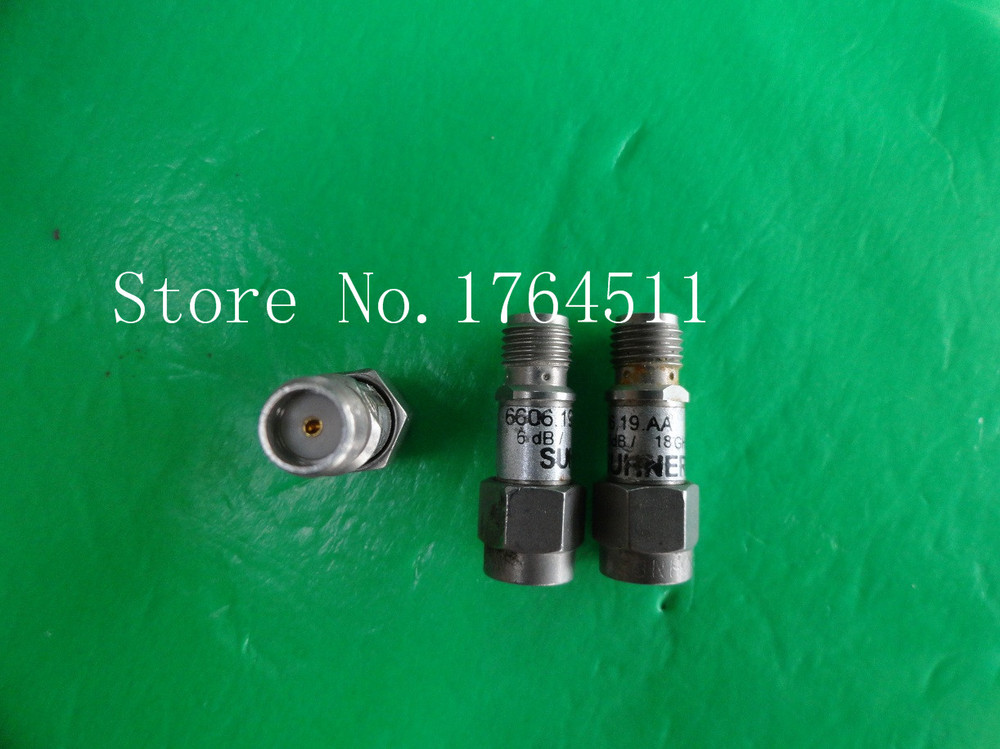 [BELLA] SUHNER 6606.19.AA DC-18GHz 6dB 2W SMA Coaxial Fixed Attenuator  --2PCS/LOT