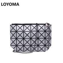Women Plaid Laser Bag Geometric Shoulder Bags Casual Mini Clutch Bao Bao Makeup Crossbody Bags for