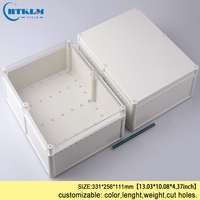 Electronics circuit project plastic waterproof boxes 331*256*111mm DIY waterproof distribution box ABS plastic project case IP68