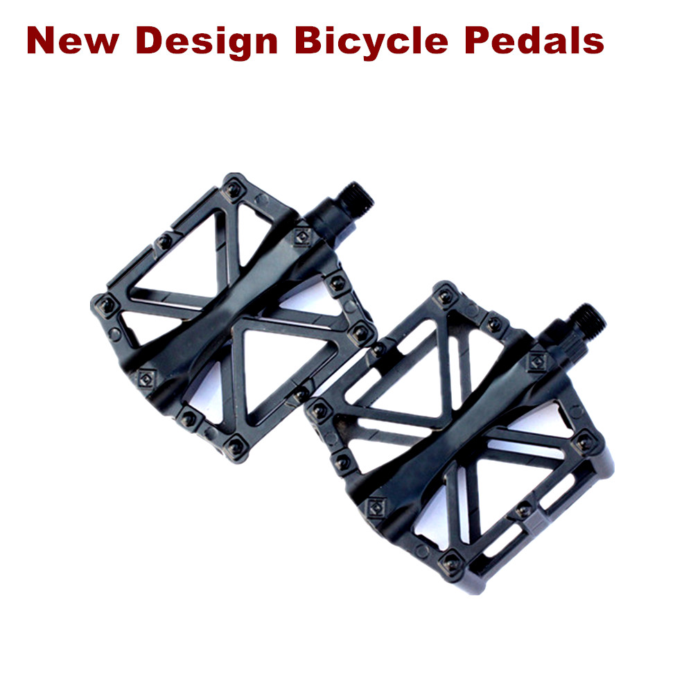 Design a bike sticker - New Design Mountain Bike Bicycle Pedals Nylon Fiber 4 Colors Big Foot Road Bike Bearing Pedals