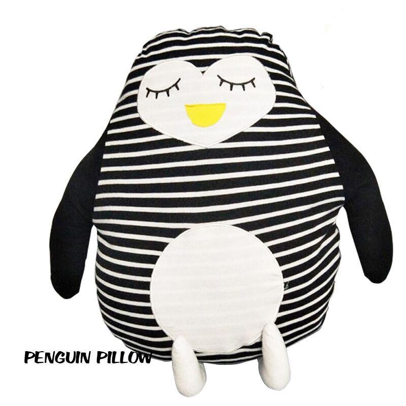 Ins Creativity Penguin Pillow Doll Plush Toys Soft Stuffe Penguin Pillow Cushion Christmas Birthday Gift Kids Baby Toy