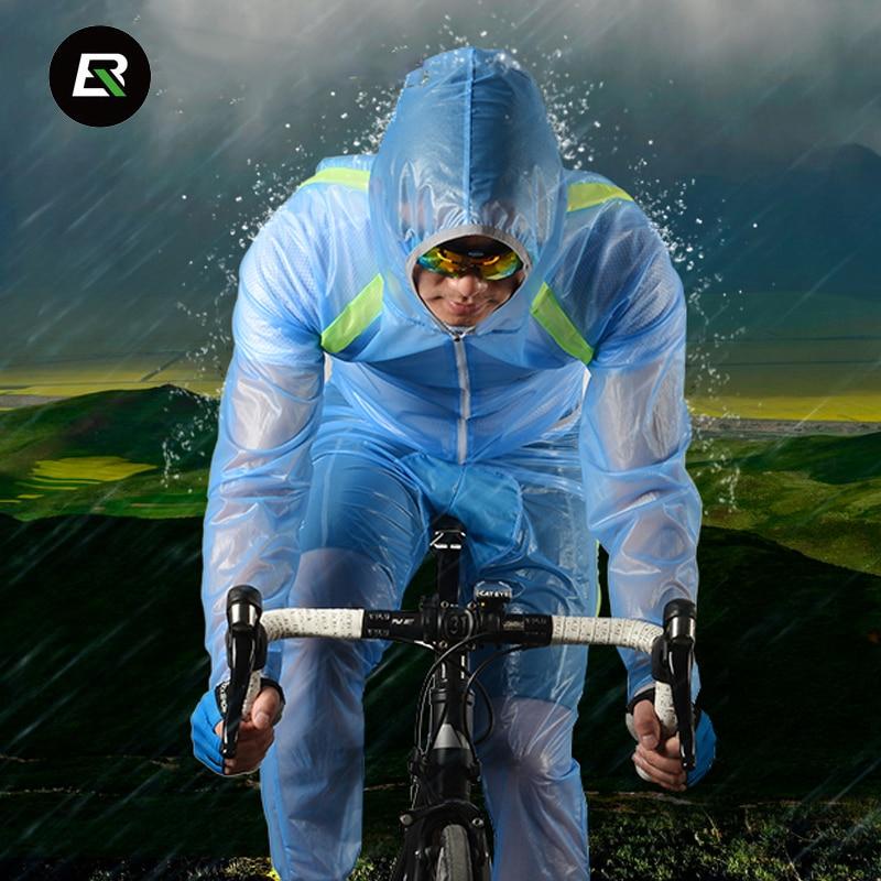 Rockbros Cycling Rain Jacket Windproof Waterproof Cycling Set Outdoor Sports Bike Jersey Set Bicycle Raincoat Ropa
