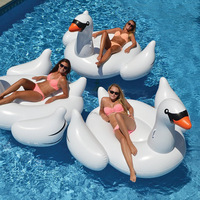 Newest design Swimming ring Giant Inflatable Float Swan inflatable pool float Toys Large float Intended for Adult