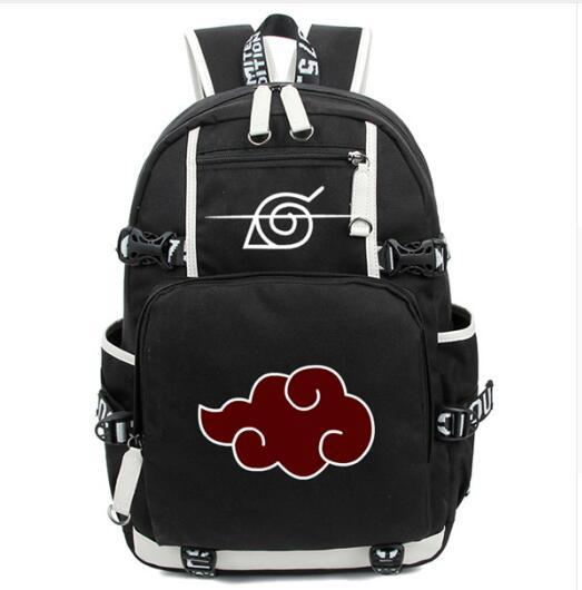 Anime Naruto Backpack Bag Akatsuki Sharingan Printing School Backpacks Laptop Shoulder Bags Cosplay anime the legend of zelda backpack bag school bag shoulder bag cosplay bag a style
