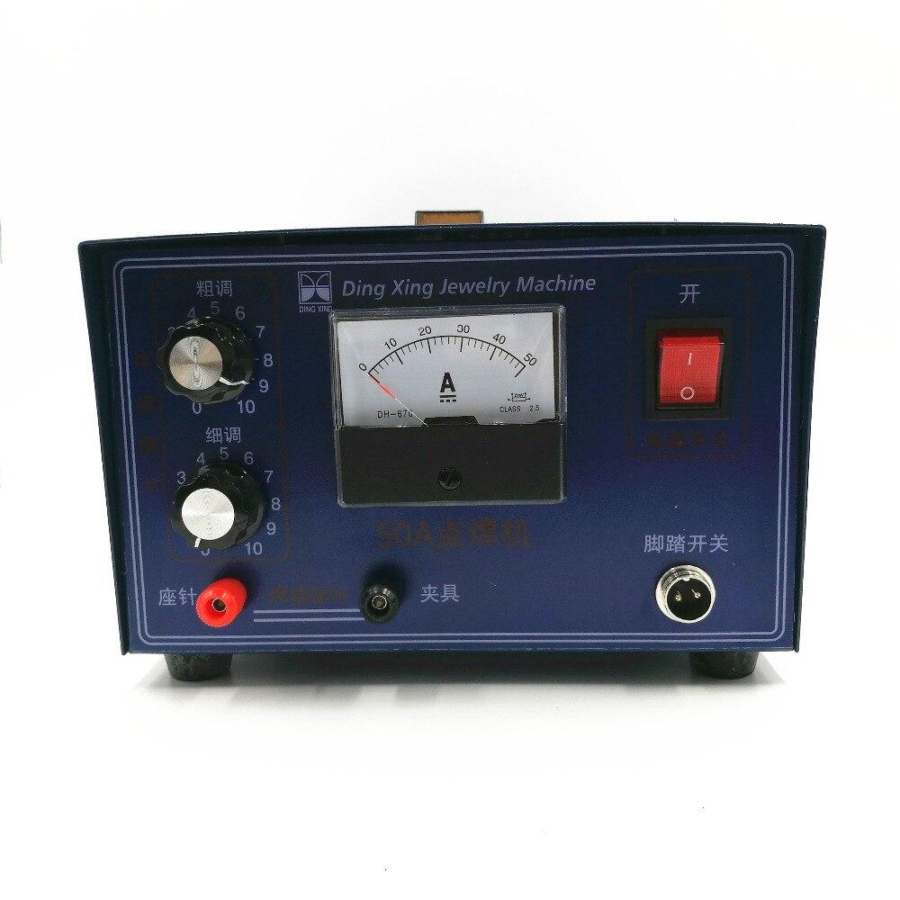 DX-50A 0.5-30A 400 w Spot de soudage à main oxymètre de pouls spot soudeur machine de soudage collier machine de soudage bijoux traitement