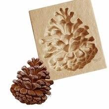 Yueyue Sugarcraft Pinecone силиконовая форма, форма для помадки, инструменты для украшения тортов, форма для шоколада