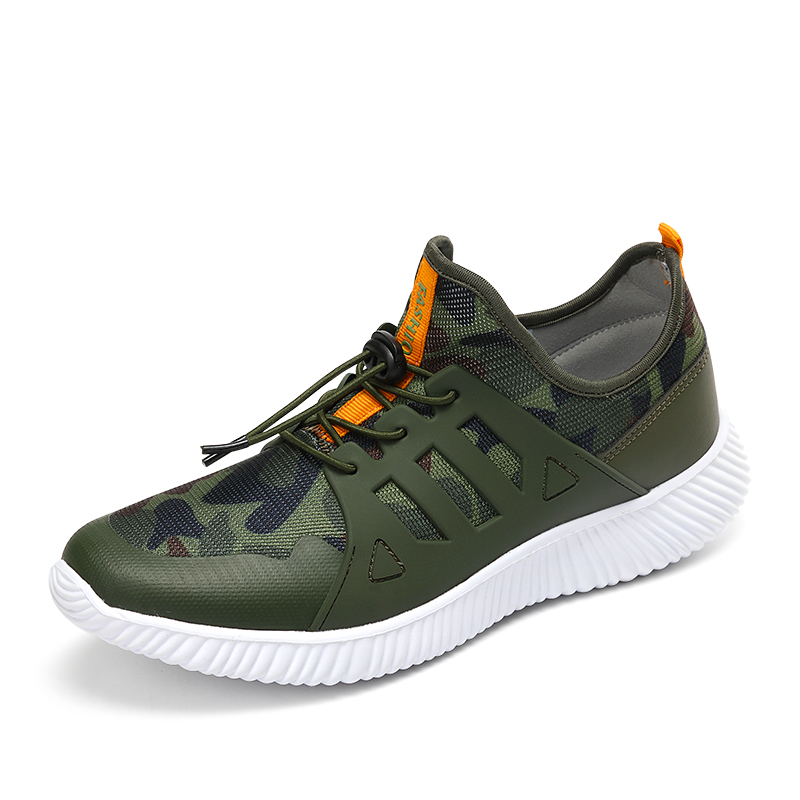 2018 New Trend Mens Running Shoes Ultra Light Military Army Green Jogging SneakersAthletic Trainers Fitness Sport Shoes for Male