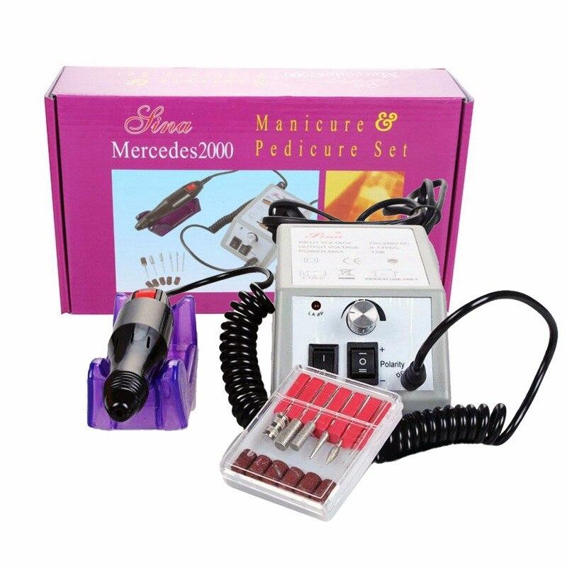 Профессиональная Регулируемая Маникюр электрический шлифовальный станок Маникюр Педикюр ногтей Книги по искусству дрель ногтей инструменты скорость вращения