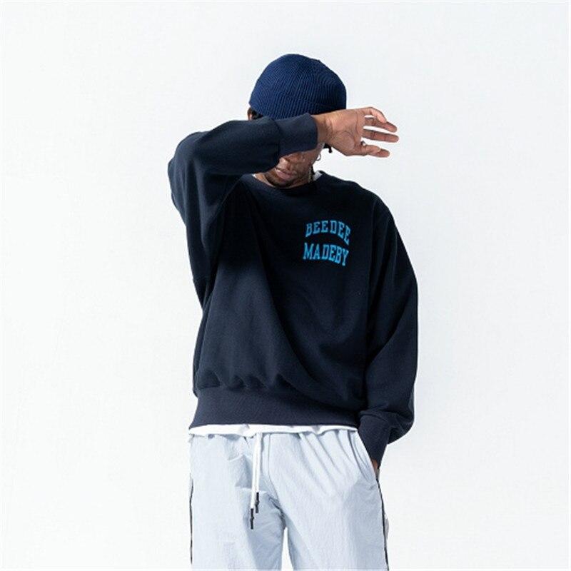 Tricolor Printed Boys New Korean Handsome Standard Regular O-neck Casual Hoodies Mens Hoodies Supernatural Sweat Hip Hop