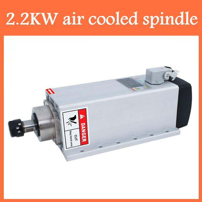 CNC 2 2KW 220V 380V 24000rpm Air cooled Square Spindle Motor ER20 Runout off 0 002mm