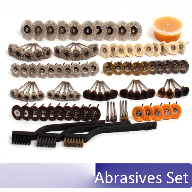 Thuja Wood carving kernel carving Polished flower head DuPont material brush groove grinding polishing Handle pieces Kit