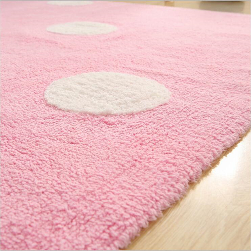 140X160cm Simple Creative Soft Cotton Carpets For Living Room Bedroom Rugs Home Carpet Delicate Hand Woven Area Rug Door Mat - 4