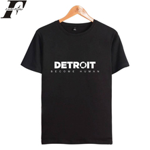 LUCKYFRIDAYF Fashion Detroit Become Human T-shirt Hot Game Short Sleeve Summer Cotton Women/Men Casual Clothes Plus Size