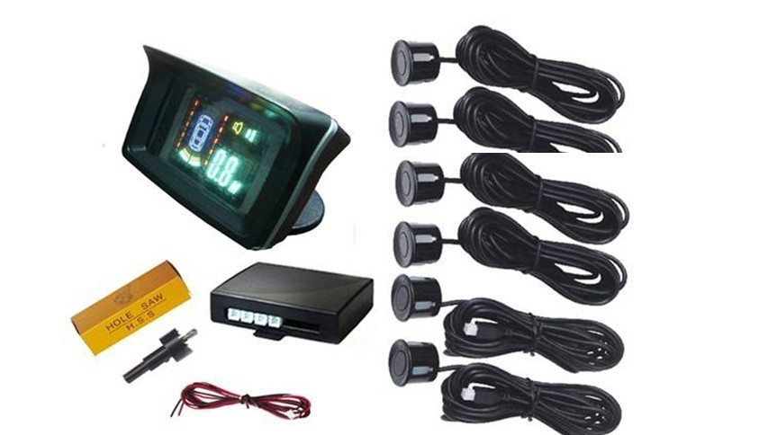 Car Reverse Parking Radar Sensor car detector VFD Display Parking sensor With 6 sensors RD-088C6 parking assistance стоимость