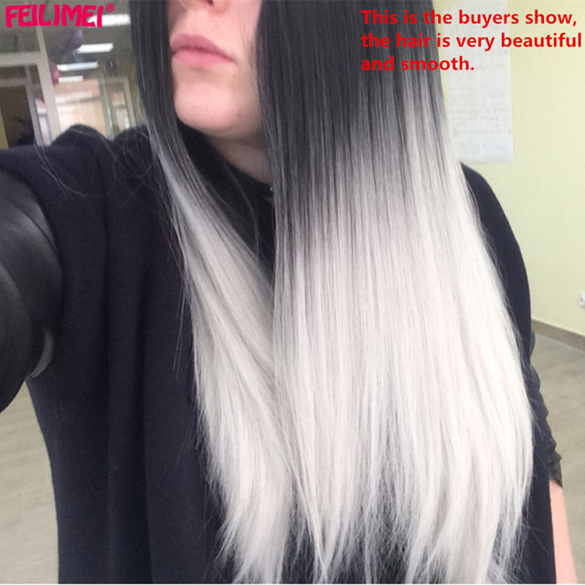 Long Straight Hair Full Head Wig 5