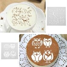 Фотография 3Pcs Clock Animal Cage Plastic Cake Stencil Fondant Cake Cookies Mold DIY Mold Cake Decorating Tools for Wedding Birthday