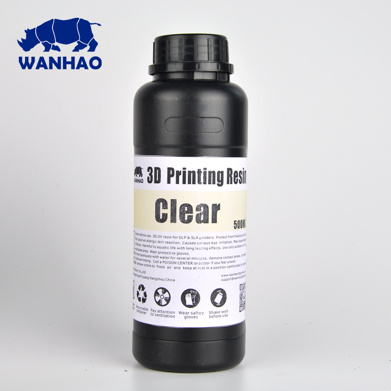 Wanhao Resin UV 405nm photopolymer resin for DLP 3D Printer  Wanhao Resin For D7 3D Printer 500ml/bottle|photopolymer resin|3d printer resin|3d resin printer - title=