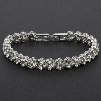 Women's Crystal Bracelet Bracelets Jewelry Women Jewelry Metal Color: B Ships From: China